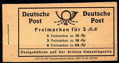 Germany - Numerals Stamp Booklet Complete - Mint - See 5 Scans 👇
