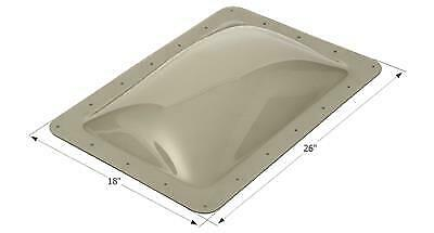 """ICON 12080 RV Skylight Smoke Outer Dome 14"""" X 22"""" X 4"""" and Flange  18"""" x 26"""""""