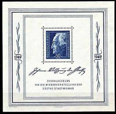Germany - 1949 Goeth Weimar Sheet - Mint Nh ** - *see Notes*