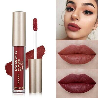 Woman Cosmetic Matte Lipstick Long Lasting Nude Coral Peach Beauty Natural Lip