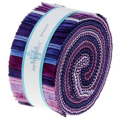 Quilting Fabric Jelly Roll - Anthology Batiks - Royality X 40