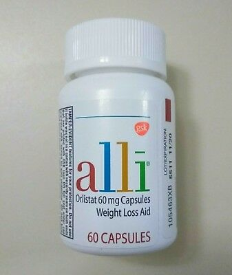 Alli Orlistat 60mg Weight Loss Aid by GSK • 60 Capsules. NEW & SEALED Exp 03/21