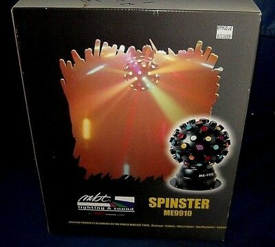 "MBT SPINSTER ME9910 BRAND NEW IN BOX 8"" Ball with over 50 lenses/Colorful Beams"