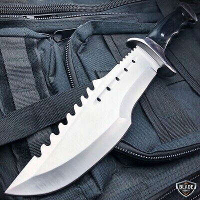 "14"" Full Tang TACTICAL TRACKER Hunting Rambo Fixed Blade Camping Bowie Knife"