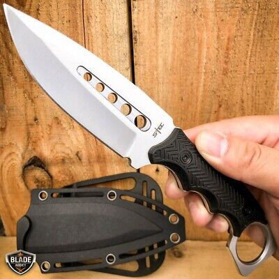 "13.5"" Full Tang TACTICAL Hunting Rambo Fixed Blade Camping Bowie Knife w Sheath"