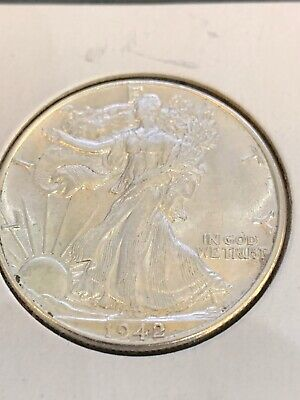 1942-P Walking Liberty Half Dollar Uncirculated