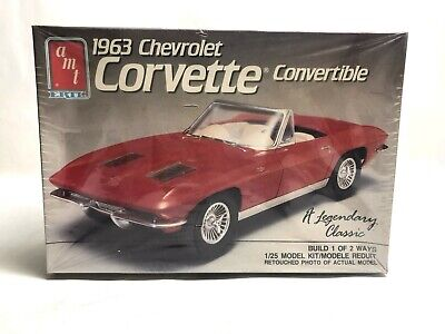 New Kit # 6774 Buy One Get One Free Amt 1:25 Scale 1963 Chevrolet Corvette Convertible Model Kit