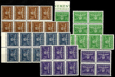 GERMAN  OCC.  GENERAL GOVERNMENT  ( POLAND )   lot of  1943  officials  mint