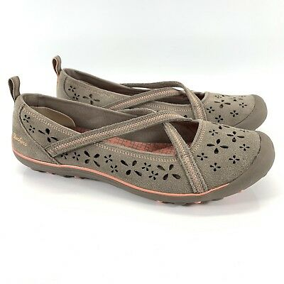 4454a6c9fd68 SKECHERS Shoes 9.5 Relaxed Fit Earth Fest Sustainability Brown Tan Suede  Flats