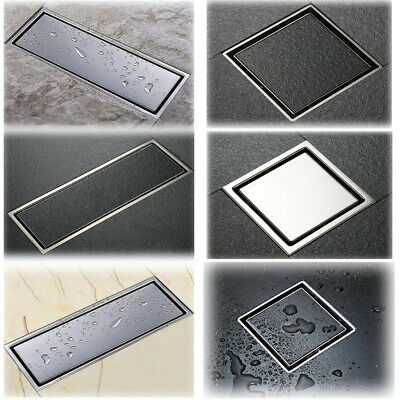 Stainless Steel Invisible Bathroom Floor Drain Waste Grate Shower Drainer Cover