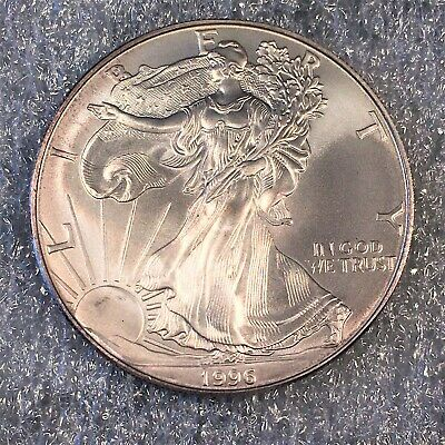 1996 Uncirculated American Silver Eagle US Mint Issue 1oz Pure Silver #H623