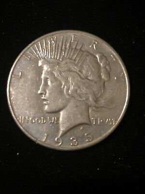 1935-P 1 Silver Peace Dollar, VF+ Better Date