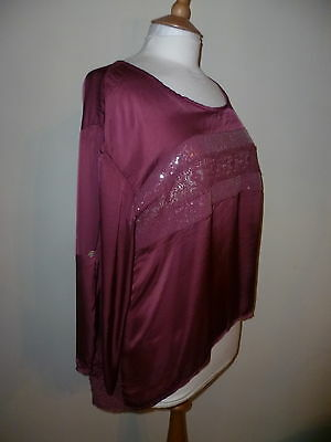 bea24e71ce JS MILLENIUM SILK mix burgundy top size 14 Made in Italy - £7.50 ...