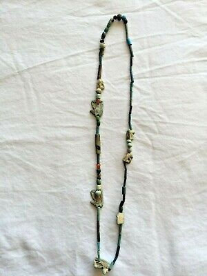 Ancient Egyptian Faience Horus Bead Necklace From An Important Collection