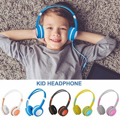 Wired Over Ear Headphone Headband Kids Girl Boy Earphone for iPad/Phone/PC/Table