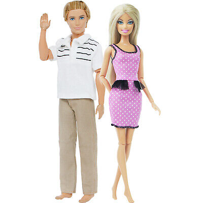 2 Casual Outfits T-Shirt+ Trousers Camouflage Men Clothes For 12 in. Ken Doll