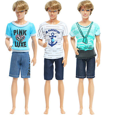 Handmade Prince Suit Men Outfit Red Coat + Trousers Clothes For 12 in. Ken Doll