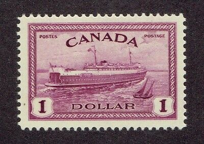 Canada Stamp #273 MNH OG Superbly Centered Train Ferry, Peace Series 1946
