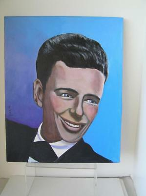 "Young Frank Sinatra Original Oil Painting 16""x20"" by Rose Marie Craft POP ART"