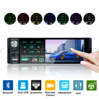 Car MP5 Player 1Din 4.1 inch Touch Screen Audio Stereo AM/FM/RDS Radio Bluetooth