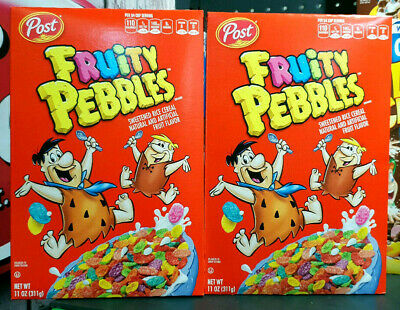 2 x Post Fruity Pebbles Cereal 311g USA