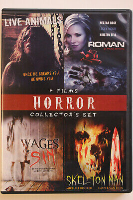 Horror Collectors Set - Live Animals/Roman/Wages Of Sin/Skeleton Man (DVD, 2009)