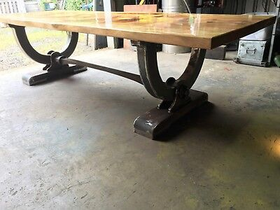 Rustic Vintage Industrial large Iron Wagon Table 12 seater