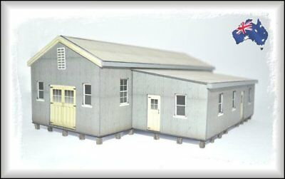 HO Scale Australian SHEARING SHED with BUNKHOUSE