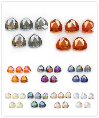 18mm 20ps Faceted Glass Crystal Triangle Loose Beads Spacer Jewelry New Design