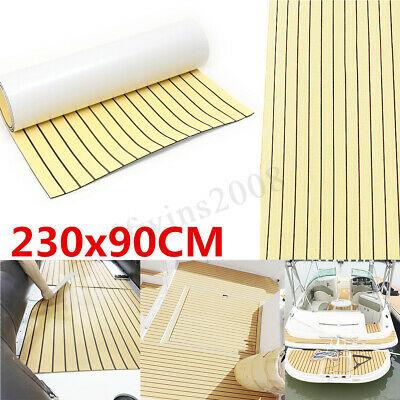 230x90cm Self-Adhesive EVA Foam Synthetic Teak Sheet Boat Decking Flooring 6mm