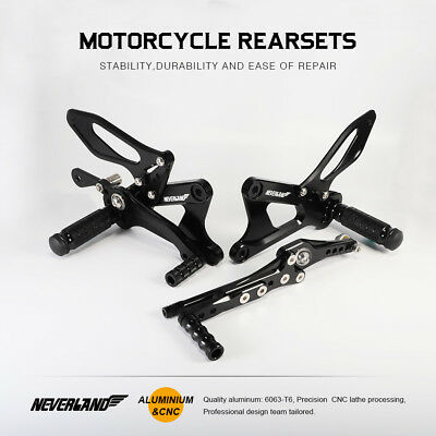 Footpeg Rearset For Yamaha YZF-R6 2006-2016 Rear Pedals Brake Shift Footrest