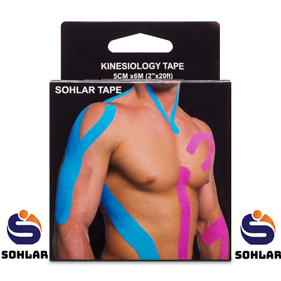 2 Rolls=(40 FT) PREMIUM Kinesiology Tape Sports Elastic Physio Therapeutic UNCUT