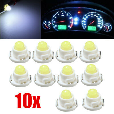 10x T4.7/T5 White Neo Wedge LED Bulb Dash Climate Control Instrument Base Light