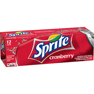 1 x Case of 12 355ml Sprite Cranberry Cans - USA Soda