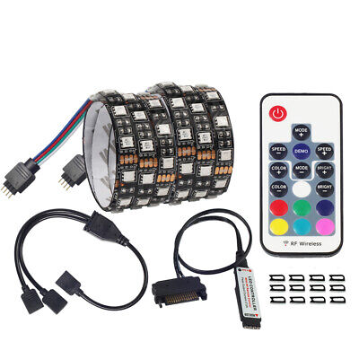 SATA RGB LED Strip Light for pc case Remote Control Computer Case Adhesive tape