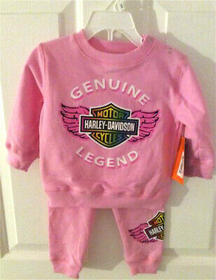 Harley-Davidson® Infant & Toddler Girls Pink Genuine Legend Jog Set 2010898