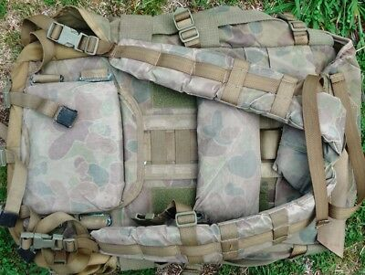 2nd Hand Army surplus Backpack bag Khaki used - paintball games, bush walking