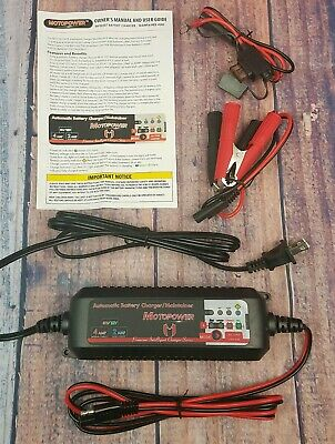 MOTOPOWER MP00207 6V 12V 4AMP Fully Automatic Smart Battery Charger Maintainer