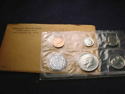 1964 Us Silver Proof Set 90% Silver Coins In Mint Packaging--No Reserve!    #122