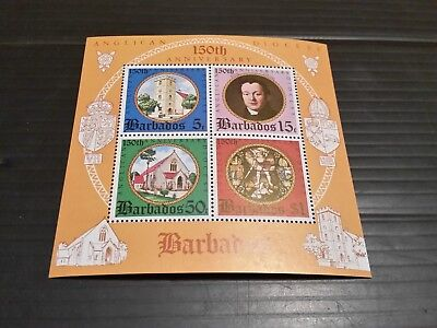 Barbados 1975 Sg Ms530 150Th Anniv Of Anglican Diocese Mnh