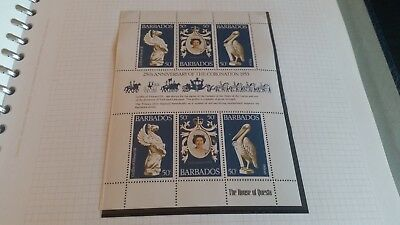 Barbados 1978 Sg 597-599 25Th Anniv Of Coronation  Mnh