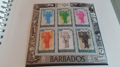 Barbados 1980 Sg Ms659 London 1980 Stamp Exn Mnh