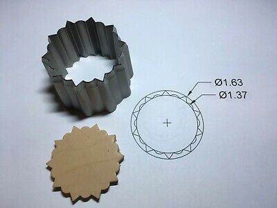 Clicker die - Pointed Concho Cutter. 1.63 OD X 1.37 ID