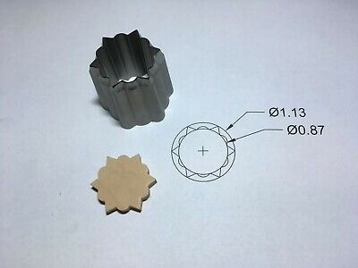 Clicker die - Pointed Concho Cutter. 1.13 OD X .87 ID