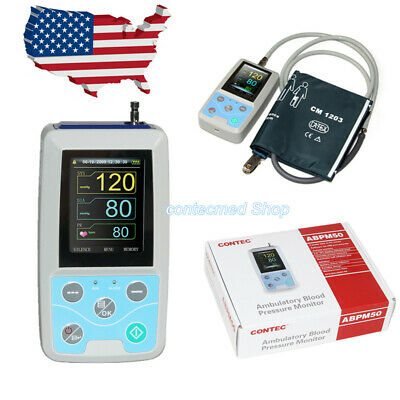 CONTEC Ambulatory Blood Pressure Monitor 24 Hours ABPM50+One Adult Cuff Newest