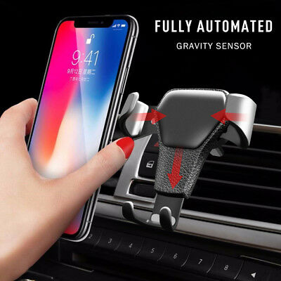 Gravity Car Phone Holder Air Vent Mount Stand for iPhone 7 8 X Samsung S8 S9 S10