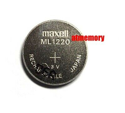 Genuine Maxell ML1220 ML 1220 Rechargeable Coin Cell Battery 3V CMOS Brand New