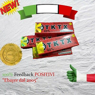TKTX 38% RED - Crema Anestetica Tattoo Piercing Trucco makeup numbing piercing
