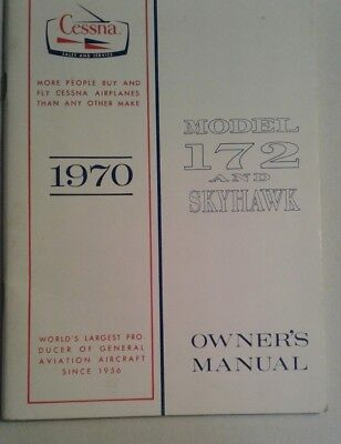 CESSNA 1970 Model 172 and Skyhawk 172L Owner's Manual Softcover