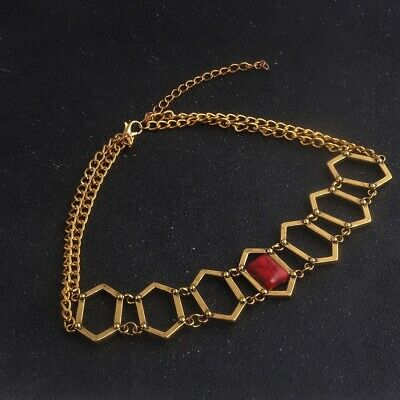 Game of Thrones Melisandre red gold choker necklace fan gift